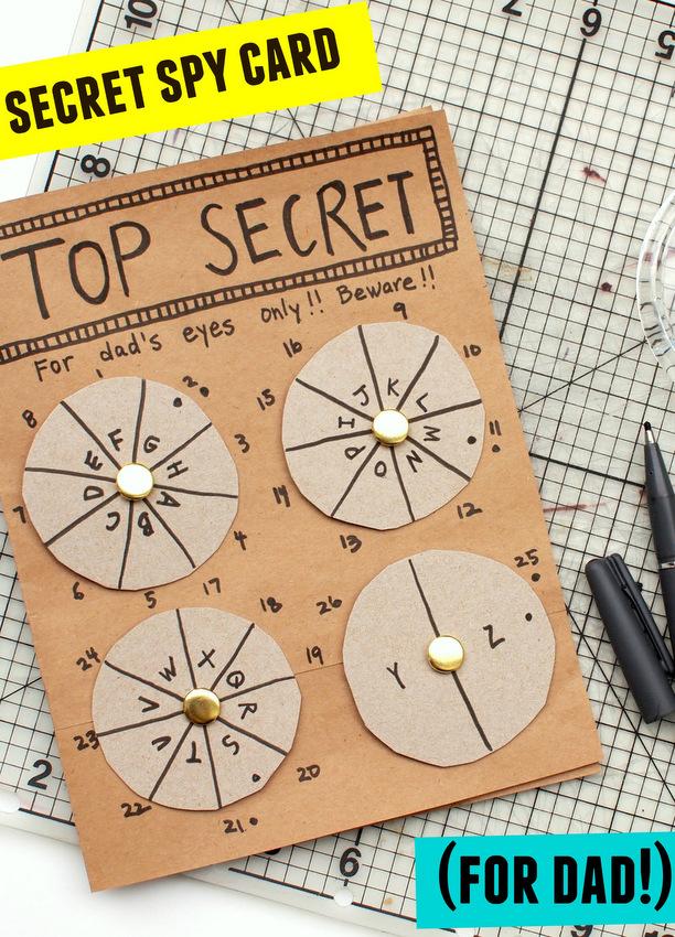 Father's Day Secret Spy Card!