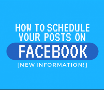 How To Time Posts On Facebook