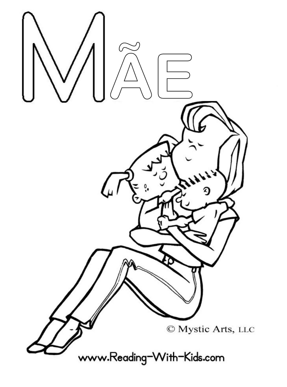 Desenhos Dia Das Maes Para Colorir
