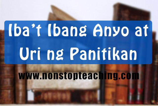 Mga Anyo at Uri ng Panitikan