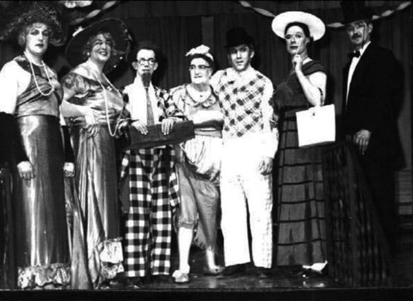 Womanless wedding, circa 1950.