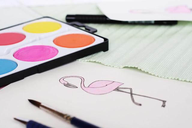 Flamingo zeichnen - Blog