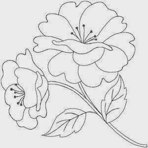 Dibujos Y Plantillas Para Imprimir Dibujos De Flores Para Bordar