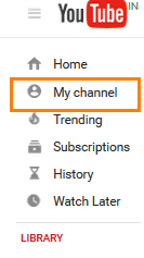 Click on the my channel