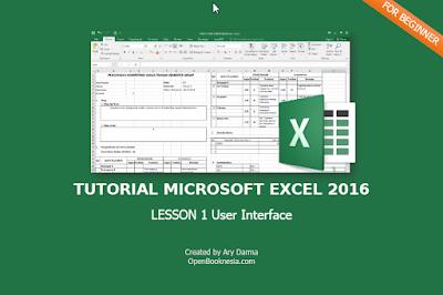tutorial excel 2016 lesson 1