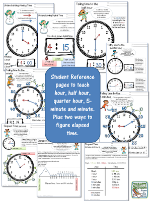 Show your students how to figure elapsed time without stressing them out!  Crockett's Classroom
