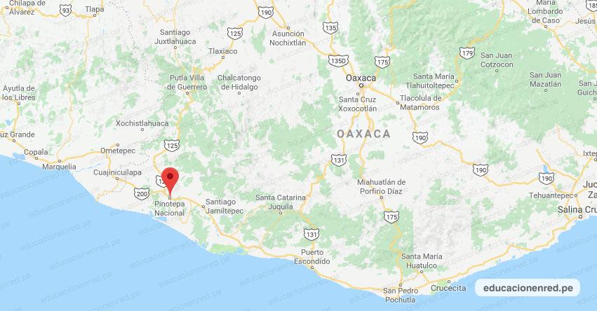 Temblor en México de Magnitud 3.4 (Hoy Viernes 30 Agosto 2019) Sismo - Epicentro - Pinotepa Nacional - Oaxaca - OAX. - SSN - www.ssn.unam.mx