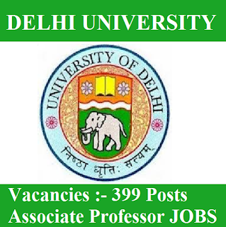 University of Delhi, DU, Delhi, Delhi University, Associate Professor, Professor, University, Post Graduation, freejobalert, Sarkari Naukri, Latest Jobs, du logo
