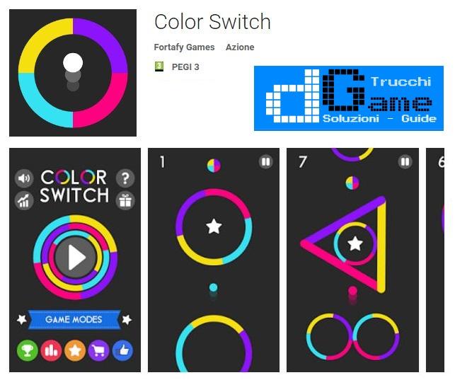 Color Switch APK MOD con trucchi stelle e tutto sbloccato Android