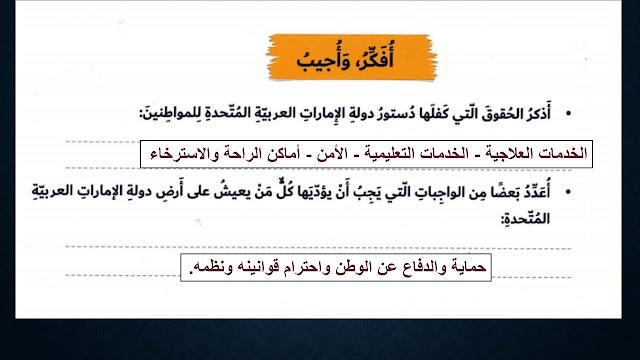 درس دستور دولة الامارات العربية درسات اجتماعية