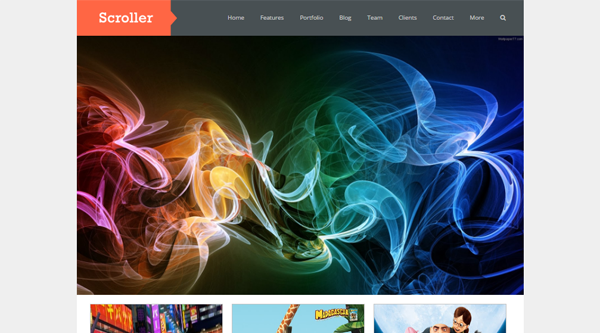 Scroller Blogger Template