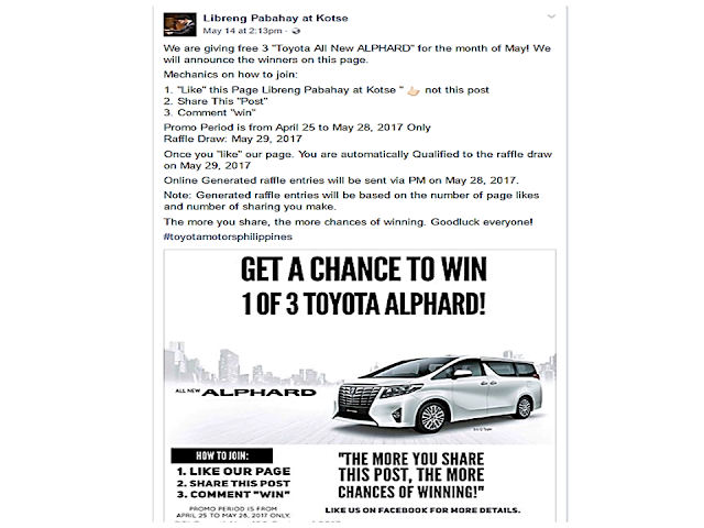 Another Fake Facebook Page Promising To Give Away Cars