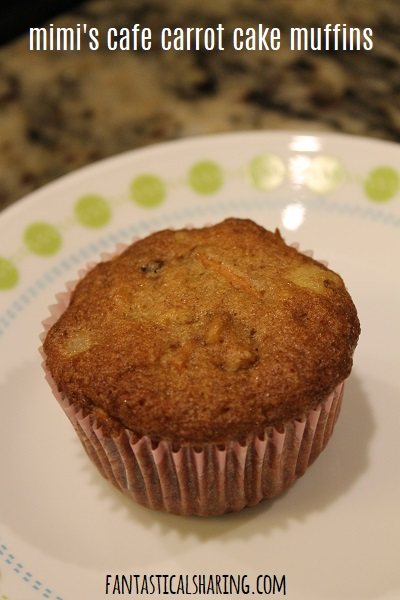 Mimi's Cafe Carrot Cake Muffins #recipe #muffins #breakfast #carrot #carrotcake