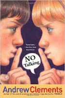 No Talking by Andrew Clements book cover chapter book