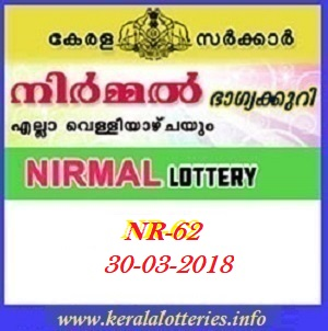 NIRMAL (NR-62) LOTTERY RESULT