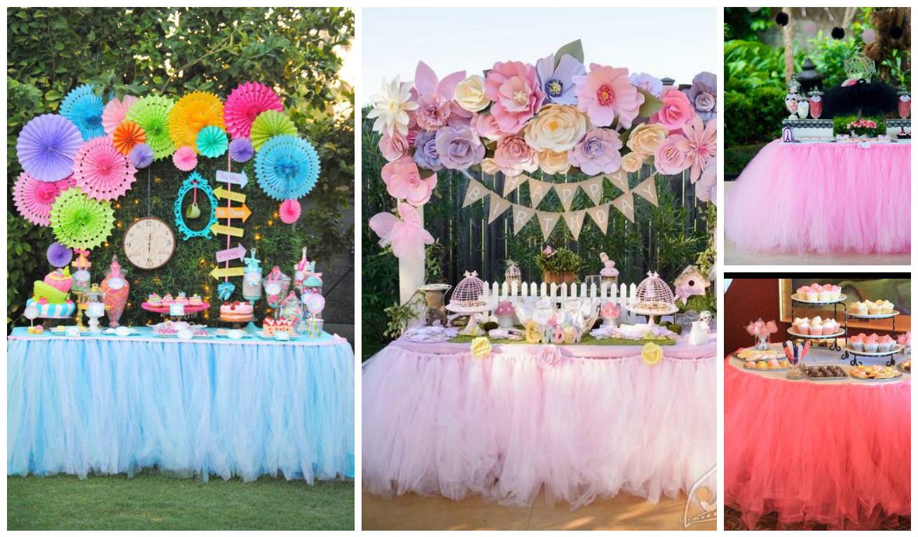 C mo decorar mesas para eventos con tul paso a paso - Como decorar una mesa para una fiesta ...
