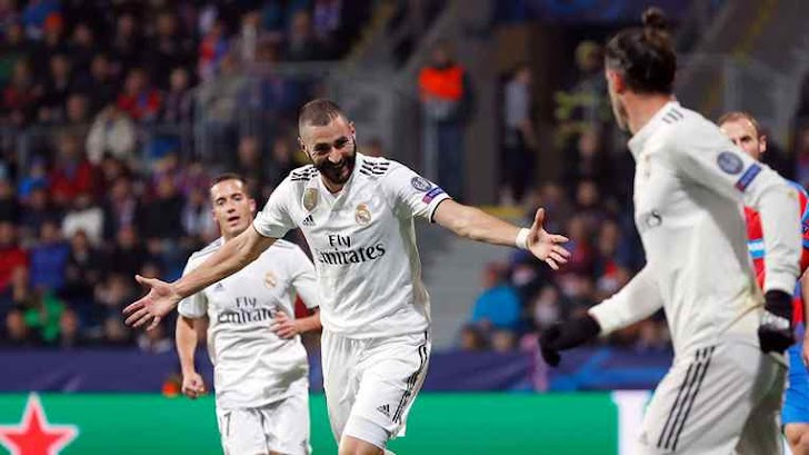 Real Madrid Cukur Viktoria Plzen Dengan Skor Telak 5-0
