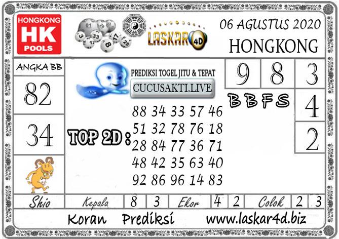 Prediksi Togel HONGKONG LASKAR4D 06 AGUSTUS 2020
