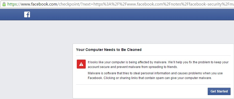 Facebook forcing users to download stupid malware removal