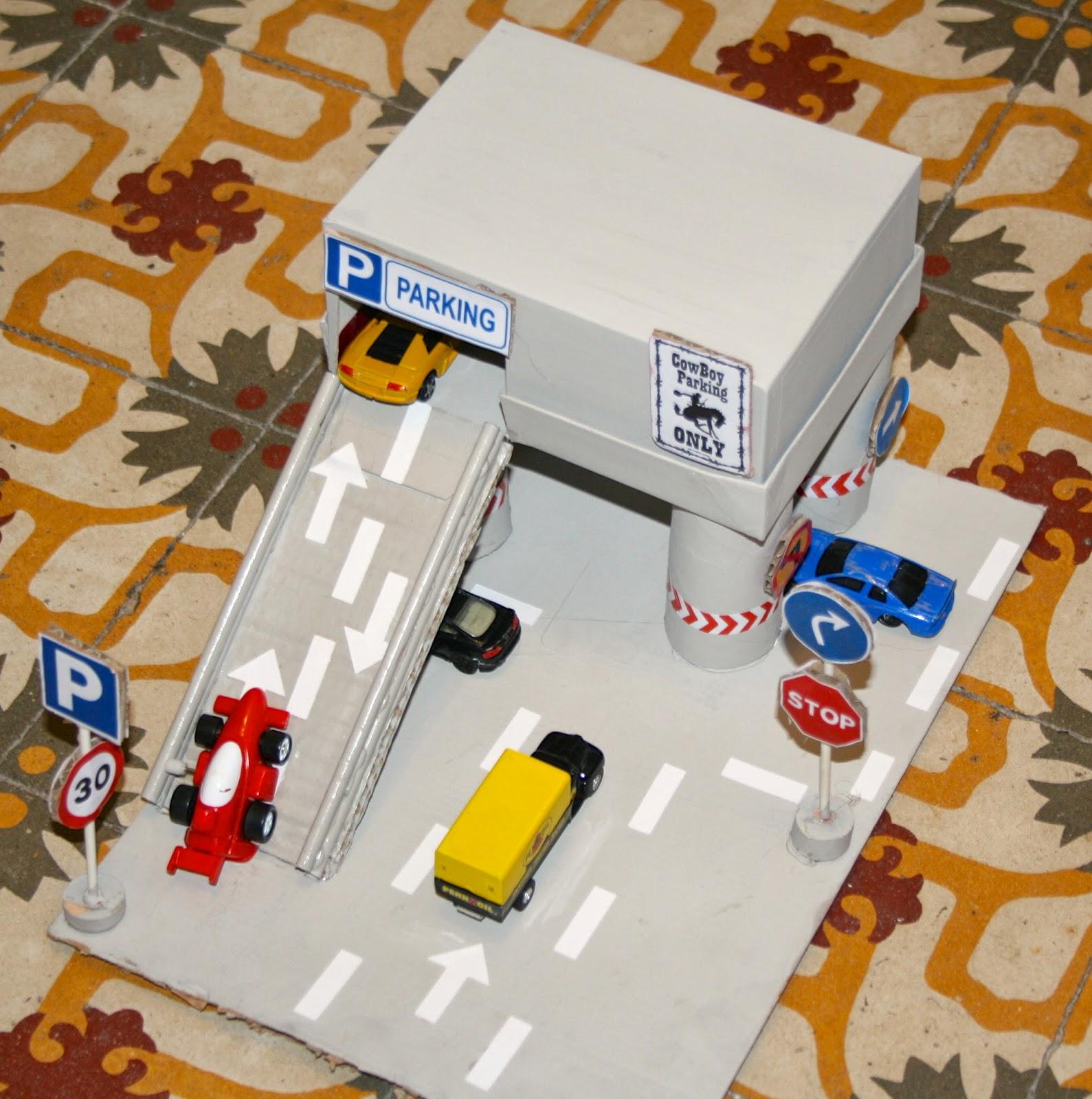 el placer del hacer diy divertido parking para ni os. Black Bedroom Furniture Sets. Home Design Ideas