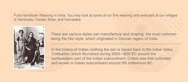 Handloom sarees of India