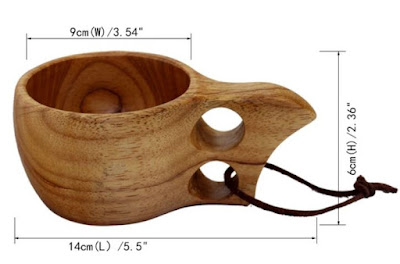 size capacity Wooden Coffee Mug & Cup