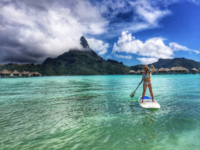 Paddle Boarding in Bora Bora Mt. Otemanu