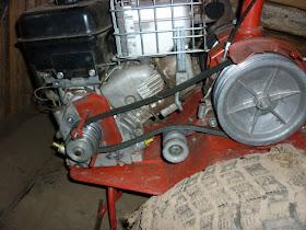 двигатель с ременной передачей под нагрузкой