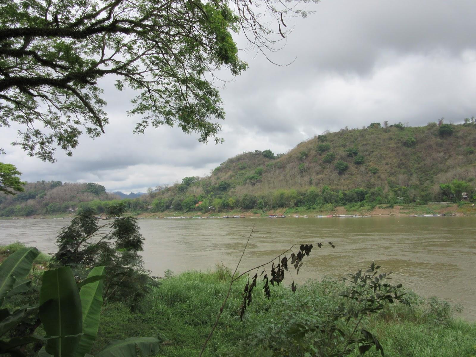 Río Mekong en Luang Prabang, Laos