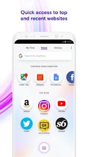 تحميل تطبيق Opera Touch لتصفح اسرع للانترنت