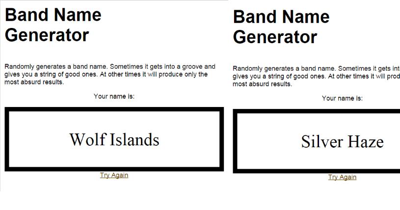 ScarlettASMedia: Drafting & Planning - Band name generator