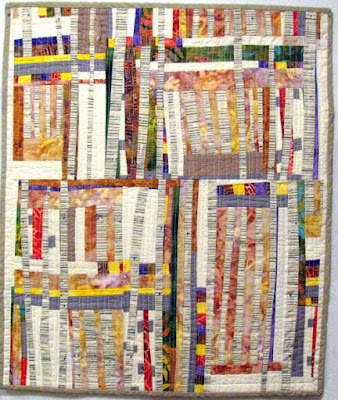 Improv quilt Summer Aspen by Monica Curry