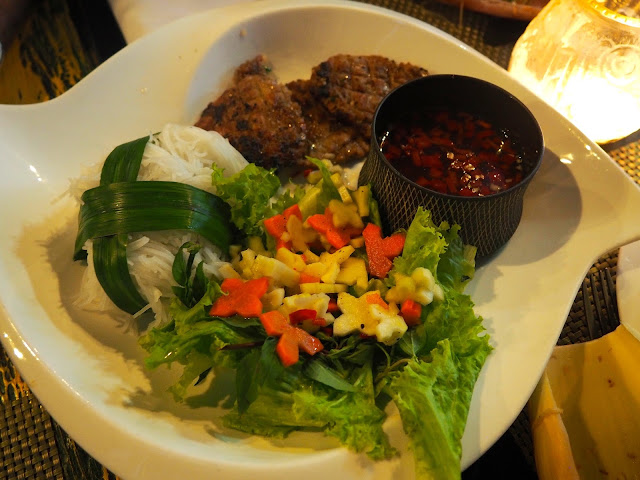 Bun Cha Hanoi burgers made in cooking class in Hoi An, Vietnam