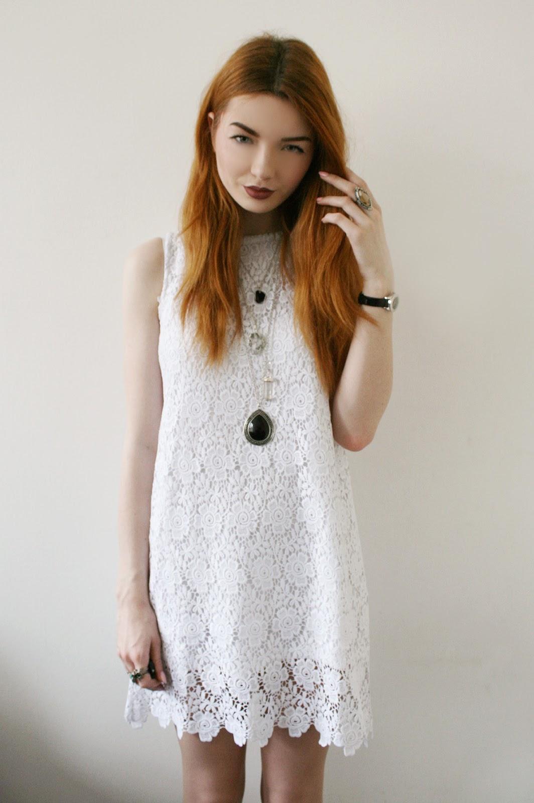 White Crochet Dress - Hannah Louise