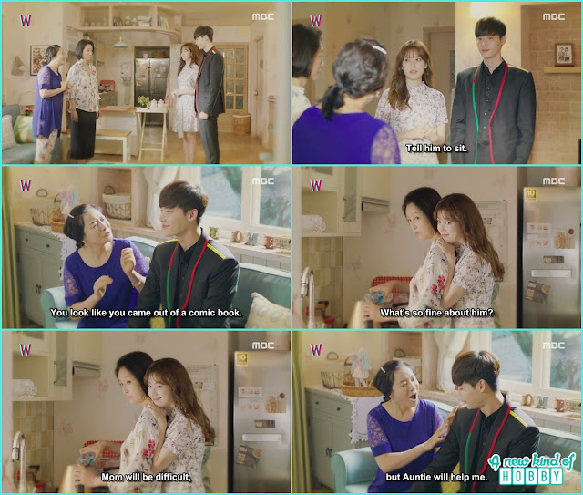 yeon jo take kang chul to meet her aunt and mother  - W - Episode 13 Review - The Hypothesis & Unexpected Twist