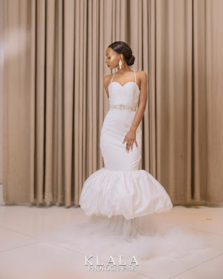 #BBNaija's Anto Lecky stuns in bridal themed shoot