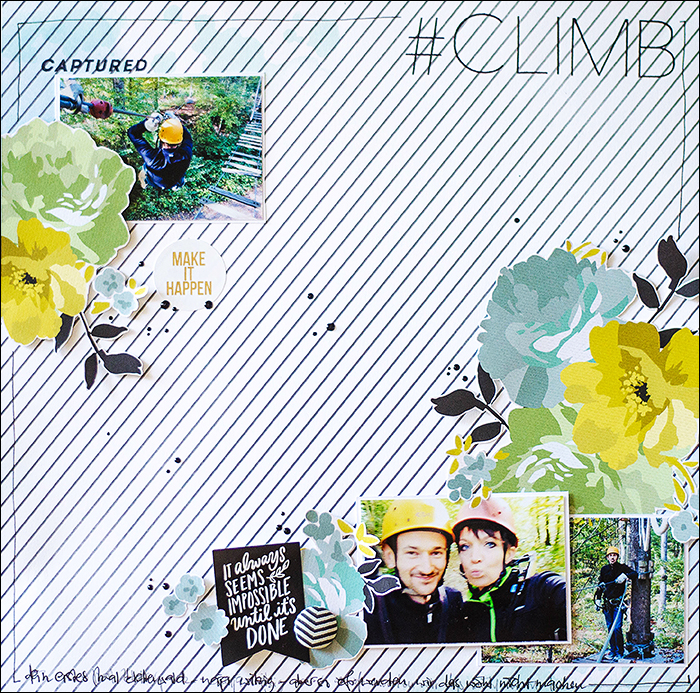 Stephanie Berger - Scrapbooking - Layout - Climb