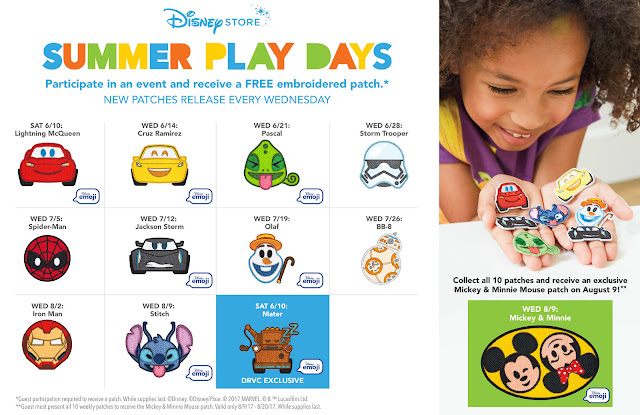 Disney Summer Play Days Available Patches