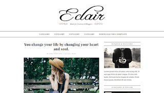 Eclair Awesome Blogger Template