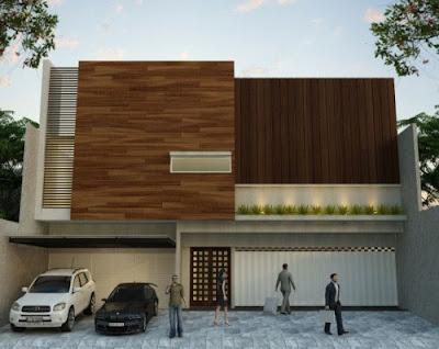desain hunian minimalis modern 1 lantai untuk ruko
