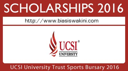 UCSI University Trust Sports Bursary Scholarship 2016
