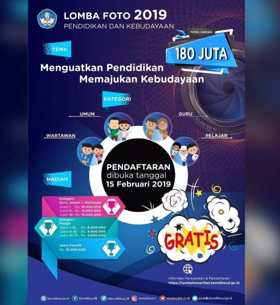 Gratis Lomba Foto Nasional 2019 Hadiah 180 Jt Info Lomba 2020