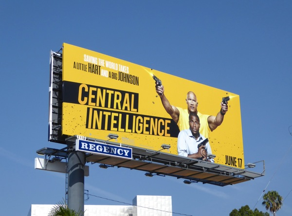 Central Intelligence movie billboard