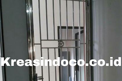 Pintu Kasa Stainless Pemasangan Di Jalan Raya Kartini Depok
