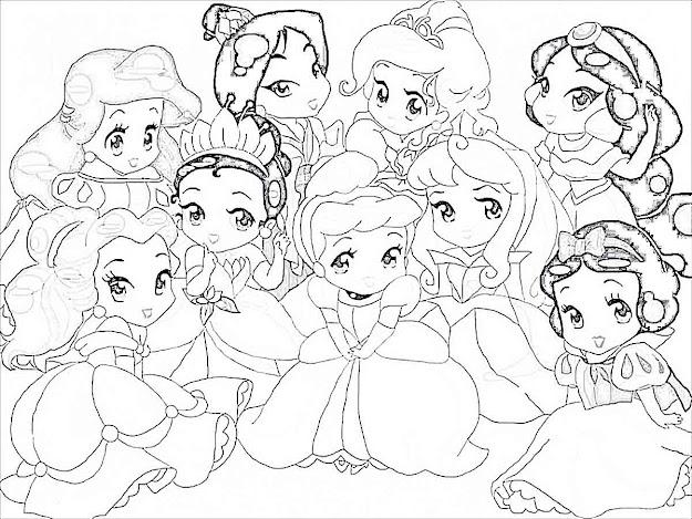 Baby Disney Princess Coloring Sheets