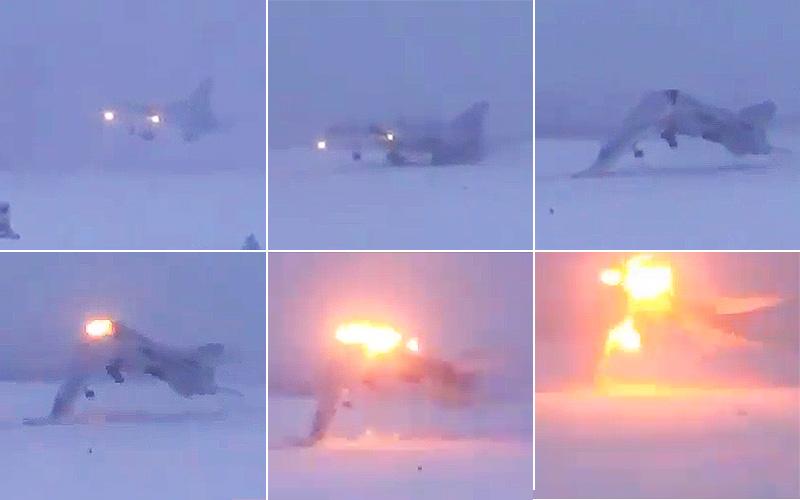 З'явилось відео катастрофи бомбардувальника Ту-22М3