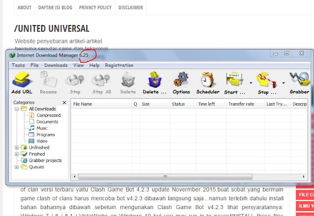 Download Internet Download Manager (IDM) 6.25 All Verison Terbaru 2016 Full Crack Work 100%