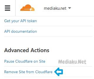 Menghapus Domain Di CloudFlare