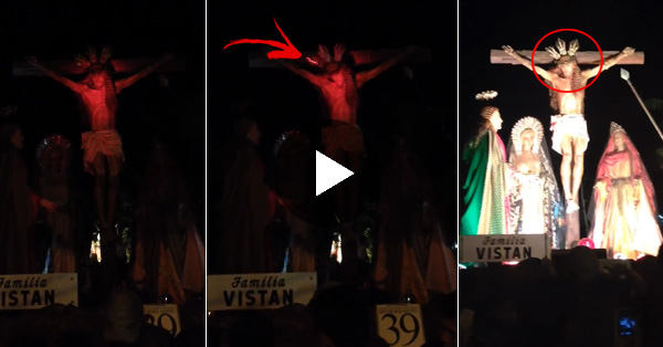 "VIDEO: The Creepy Statue of Jesus Christ is ""MOVING ON"" The video goes Viral! Watch!"