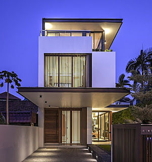 example of a picture of a modern 2-storey minimalist house - Lampung interior house